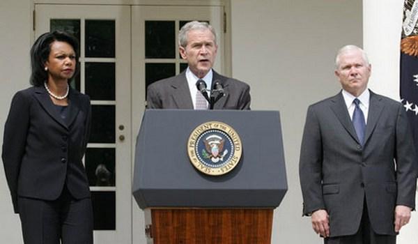 ჯორჯ ბუში და კონდოლიზა რაისი