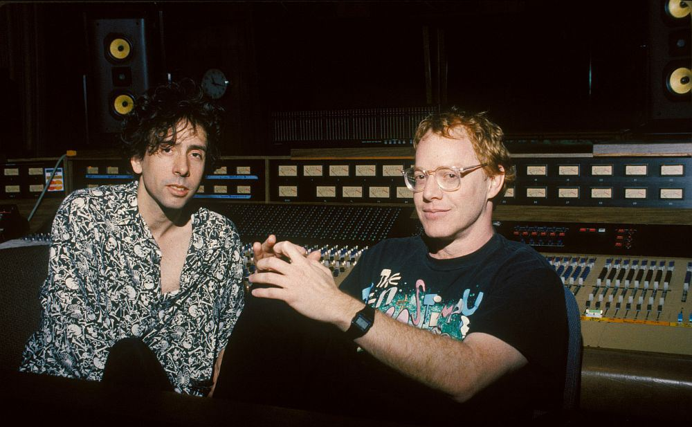 producer Tim Burton and composer Danny Elfman of the movie THE NIGHTMARE BEFORE CHRISTMAS. All rights reserved. HOLIDAY SNEAKS